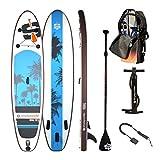 SIMPLE PADDLE Stand up Paddle Gonflable 10'6 - UGAL 10'6 30'' 6' (315 x 76 x 15 cm), livré avec Pagaie + Leash + Pompe Double Action + Sac de Transport