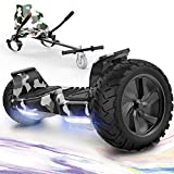 """GeekMe Hoverboards,Off Road Hoverboards with Hoverkart,8.5"""" Hoverboards All Terrain with APP, Bluetooth..."""