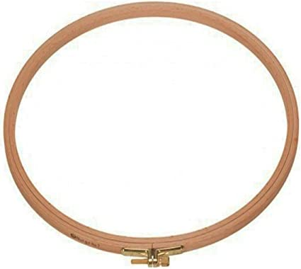 4x6 or 5x8 Oval; High-Quality Hardwood Hoops Mixed Browns 4-Pack Premium Beechwood Hand-Stained Embroidery Hoops; Sizes 3-9