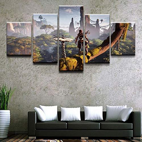 Decoración del hogar Hd Imprimir imagen D 5 Horizon Zero Dawn Poster Wall Artwork Juego modular Pintura Living Room Canvas 30 * 40 * 2 30 * 60 * 2 30 * 80Cm Sin marco Sanzx