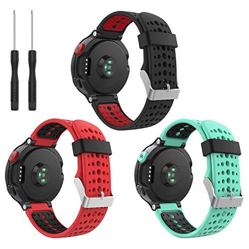 kitway Forerunner 235 Armband - Forerunner 235/220 / 230/620 / 630/735 WHR Laufuhr - Silikon Ersatz-Uhrenarmband Uhrenarmband Einstellbar Armband Replacement Wechselarmband