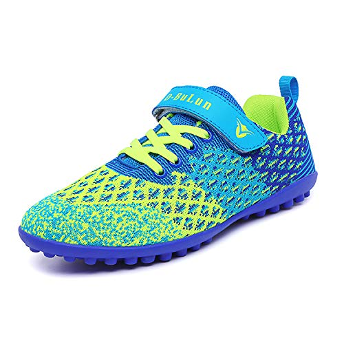 Unisex Kids Youth Athletic Lightweight Outdoor/Indoor Turf Comfortable Casual Cleats Soccer Shoes