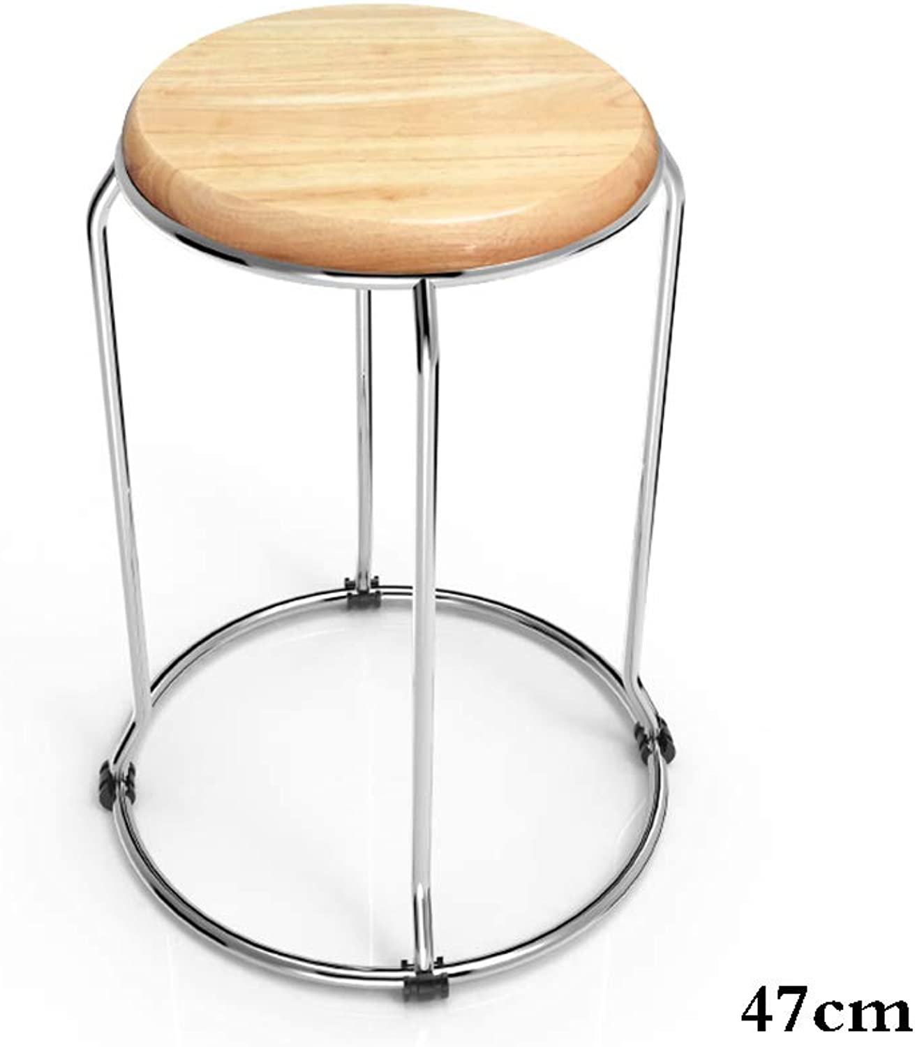 Solid Wood Stool Small Stool Folding Chairs Home Dining Chair Oak Bench (Size   47)