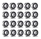 20 x 608RS Skateboard Bearings, ABEC-9 Double Rubber Sealed Shielded Miniature Deep Groove 608rs Bearings for Skateboards.