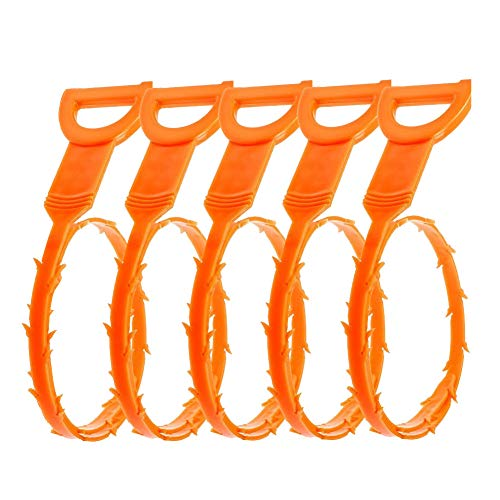Drain Clog Remover Cleaning Tool, 5 Pack of Tencal 20'' Hair Drain Clog Remover Cleaning Tool and...