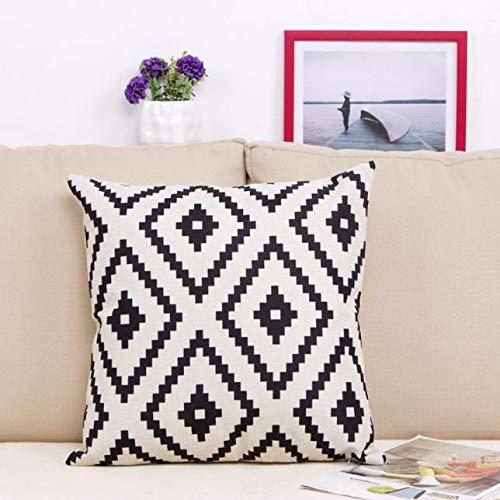 FeiliandaJJ Pillowcase, Geometrisches Leinen Kissenhülle Kopfkissenbezug Rechteckig Dekoration Kissenbezug Super weich Sofakissen für Wohnzimmer Sofa Bed Home,45x45cm (A)