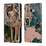 Head Case Designs Officiel Vincent HIE Couple De Loup Canidae Coque en Cuir à Portefeuille Compatible avec Samsung Galaxy A3 (2017)