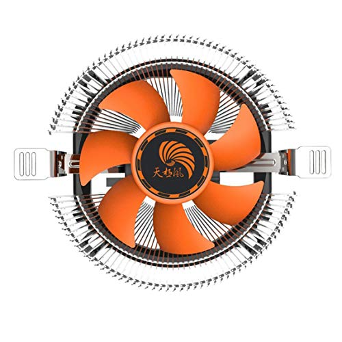 BiaBai Disipador de calor del ventilador de refrigeración del enfriador de la CPU de la computadora de la computadora súper silenciosa de larga vida útil para Intel LGA775 1155 AMD AM2 AM3 754