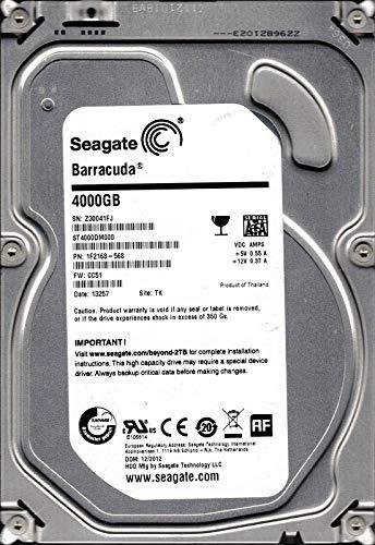 Seagate ST4000DM000P/N: 1F2168–568F/W: cc51TK 4TB