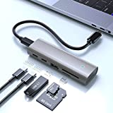 USB C Hub Multiport Adapter, USB 3.1 Gen 2 Hub – SuperSpeed 10 Gbps 5 in 1 USB C Dongle mit 2 USB...