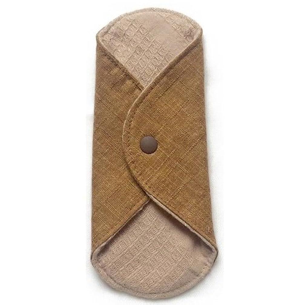 アーサー過半数メロドラマ華布のオーガニックコットンのあたため布 Sサイズ(約13×約13cm) 彩り(栗)