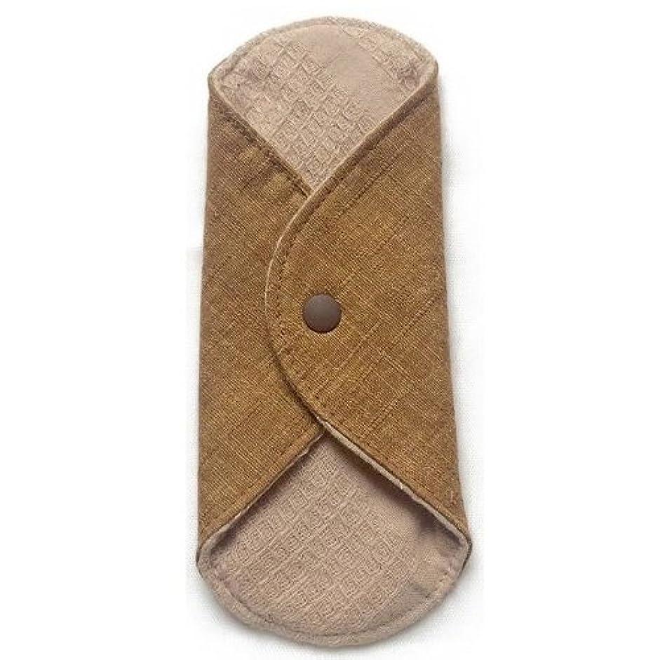 テクニカル救援暫定華布のオーガニックコットンのあたため布 Sサイズ(約13×約13cm) 彩り(栗)