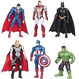 Adornos para Tartas Nesloonp 6 Piezas Mini Juego de Figuras Decoración de Pastel de Superhéroes Cake Topper Superhero Decoración de Pastel de Cumpleaños de Avengers para Torta del Fiesta Suministros