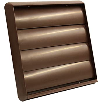 Brown rectangulaire Channel fermeture 75 mm x 150 mm Hydroponics Conduit Air Vent Grille