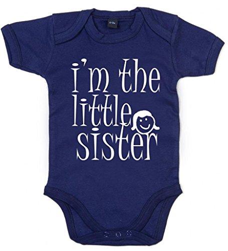 Image Vêtements bébé, I'm The Little Sister, Body Bébé, 6-12m, Bleu Foncé