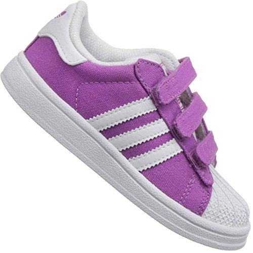 adidas Originals Superstar 2 CF Baby Kinder Schuhe Turnschuhe LILA Weiss Gr. 19, Schuhgröße:19 EU, Farbe:Lila