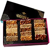 NY Original Brittle Mothers Day Gift Basket | 8 Variety Gourmet Easter Gift Baskets Candy & Nut Treats | Snacks Food of Mixed Nuts Bars | Prime Box of Kosher Corporate Gift Sets Delivery for Families