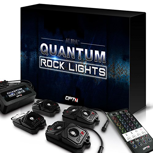 OPT7 LED Rock Lights 4pc - RGBW Multicolor w/remote - Dimmer Strobe Fade IP67 Waterproof Pods for Off Road, Crawling, and Climbing - 2 Year Warranty