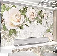 Bosakp カスタム3D壁紙壁画現代手描きの花の油絵ヨーロッパスタイル3Dリビングルームテレビ背景壁壁画の装飾 200X140Cm