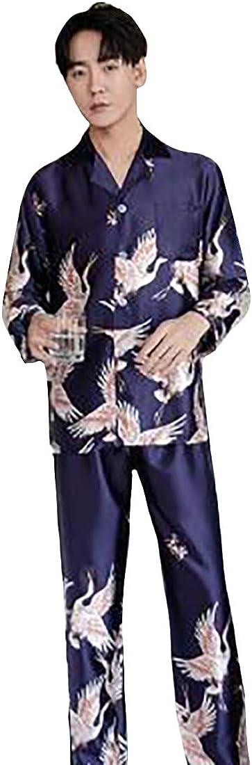 Huicai Couple Nightwear Loose Casual Two-Piece Suit Sleepwear Pyjama Sets