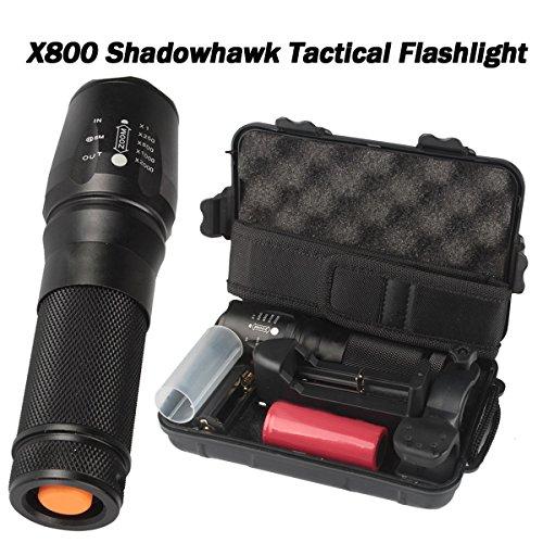 6000 lúmenes X800 linterna táctica LED Zoom Military Torch G700 con cargador de batería Super brillante para acampar, senderismo, pesca nocturna, bicicleta