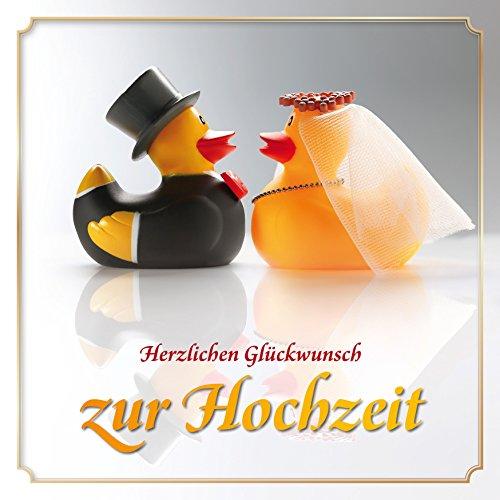 Lustige Enten-Hochzeitskarte mit Umschlag: Witzige Glückwunschkarte zur Hochzeit mit Quietsche-Enten als Brautpaar von EDITION COLIBRI (10818)