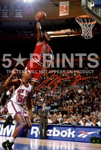 Michael Jordan NBA Chicago Bulls autografato PP 30,5 x 20,3 cm
