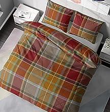 DILIOS Juego de ropa de cama de 135 x 200 cm, 2 piezas, 100% algodón con cremallera, diseño de cuadros, Öko-Tex Standard 100, funda nórdica de 135 x 200 cm, funda de almohada de 80 x 80 cm