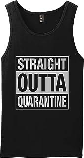 Straight Outta Quarantine Funny Muscle Shirt Gym Beach Tank Top