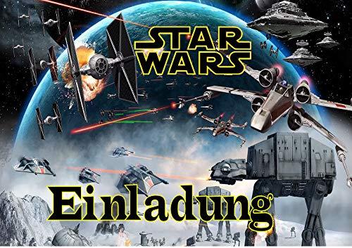 TV-24 Star Wars Einladungskarten 6er Set inkl. 6 Umschläge E8
