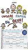 Unsere Familie ist die beste! 2022: Familienkalender - 6 breite Spalten mit viel Platz. Hochwertiger Familienplaner mit Ferienterminen, Vorschau bis März 2023 und tollen Extras. 27 x 47 cm.