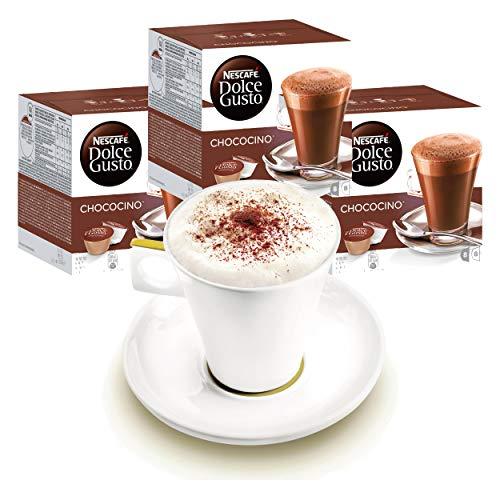 Nescafé DOLCE GUSTO Tassen Geschenkset, 3 Packungen mit Becher Chococino Kakao, Kakaokapsel, Schokolade, Kapseln