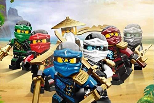 Lego Ninjago Tortenaufleger, Rechteckig A4 - Geburtstag Tortenbild Zuckerbild Tortenplatte Oblate Kuchenzuckerplatte