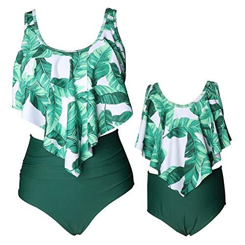 Baby Gril Swimsuits Mommy and Me Bathing Suits Family Matching Two Piece Bikini Set(Mom M,Style-4)