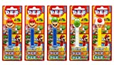 PEZ set de dispensadores Nintendo (5 dispensadores con 3 recargas de caramelos PEZ de 8,5g c/u) + 1 paquete de recargas (8 recargas de caramelos PEZ de 8,5g c/u)