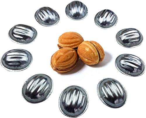Metal Mold Form Nuts For Sweet Russian Nuts Oreshki Pastry Cookie Nutlets (Set of 60 pcs)