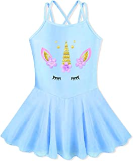 BAOHULU Girl's Skirted Leotards Camisole Cartoon Ballet Tutu Dress