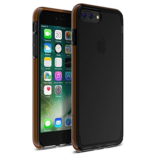 Maxboost iPhone 8 Plus Case, HyperPro Thin case for iPhone 8/7 Plus Scratch Resistant [Hybrid Heavy Duty] w/GXD Gel Protection for Apple iPhone 8 Plus and 7 Plus - Midnight Black