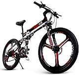 ENGWE Bicicleta eléctrica Plegable de suspensión Completa con Disco Doble de Rueda integrada