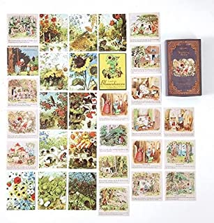 Vimax - Assorted Stickers - Fairy & Elf Matchbox Diary Stickers Retro Stamps Scrapbooking Korean Sticker Label 60pcs/box (3)