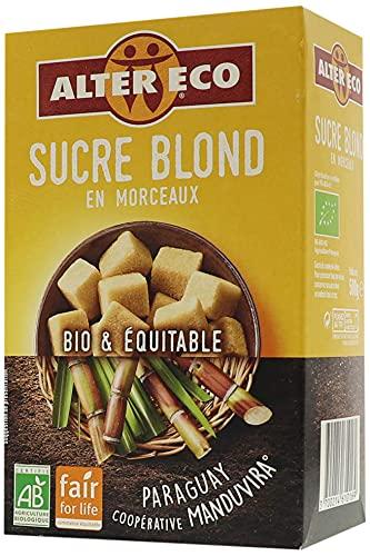 Alter Eco Sucre Blond Pure Canne en Morceaux Bio & Équitable - 500 g