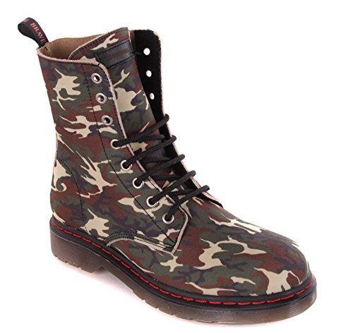 Diesel Damen Boots Stiefeletten Stiefel Camouflage (Grün, numeric_37)