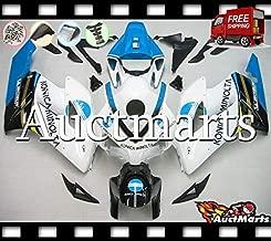 Auctmarts Injection Fairing Kit ABS Plastics Bodywork with FREE Bolt Kit for Honda CBR1000RR CBR 1000 RR 2004 2005 White Blue Black Konica Minolta (P/N:1d18)
