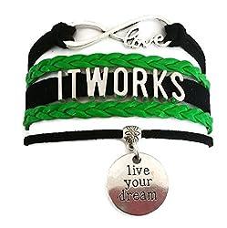 Kit's Kiss Itworks Bracelet, Itworks Jewelry, Love Infinity Bracelet, Leather Bracelet