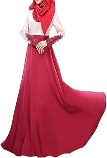 Womens Muslim Gown Long Sleeve Lace Stylish Malaysia Maxi Dress