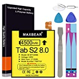 MAXBEAR 4500mAh 3.85V EB-BT710ABE Tablet Replacement Battery for Samsung Galaxy Tab S2 8.0 SM-T710 SM-T713 SM-T715 SM-T715C SM-T715N0 SM-T715Y SM-T719 SM-T719C Series with Repair Tool Kit