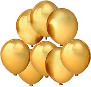 """GuassLee 100 ct Gold Balloon 10"""" Latex Helium Balloons for Wedding Birthday Party Festival Christmas Decorations"""
