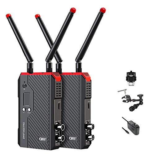 CVW Swift 800Pro Wireless Video Transmission System Set HDMI SDI HD Image Wireless 800ft Transmitter Receiver RTMP Live Streaming APP Monitor CVW 800 Pro for iPad Smartphone Monitor DSLR Camera