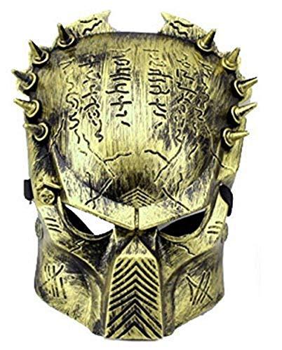 Inception Pro Infinite Maschera Alien Vs Predator - Colore Bronzo - Uomo - Donna - Carnevale - Halloween