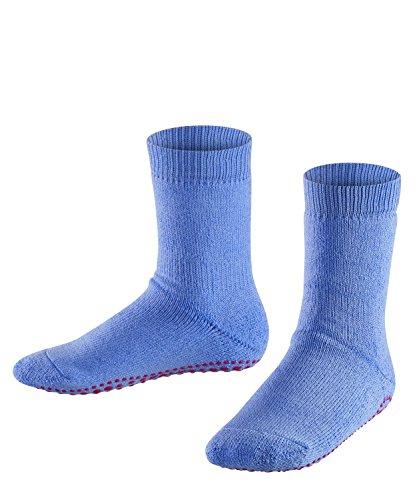 FALKE Kinder Stoppersocken Catspads, Baumwolle/Wollmischung, 1 Paar, Blau (Steel Blue/Red 6810), Größe: 23-26